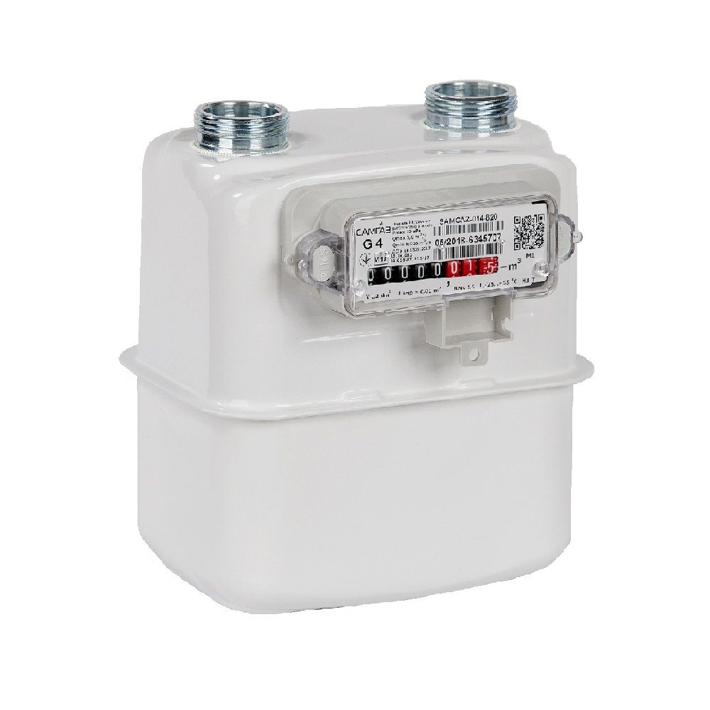 Лічильник газовий Самгаз RS/2001-2 P G4 DN20/110 (зліва направо)  зображення 1