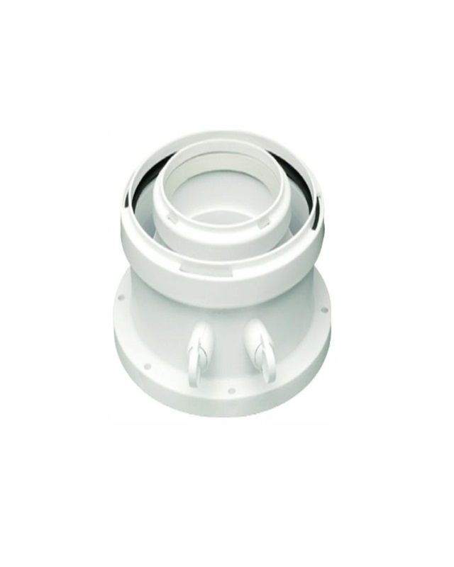 Bosch AZB 931 Адаптер для підключення коаксіальних димоходів, Ø80/125 (обов'язковий для підключення до котла) (7716780184)  зображення 1
