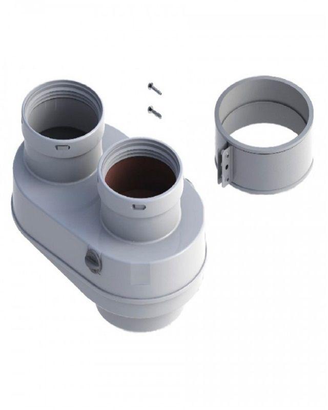 Bosch AZ 406 Адаптер для підключення роздільних димоходів Ø80-80 до димоходів Ø80/125 (7736995098)  зображення 1