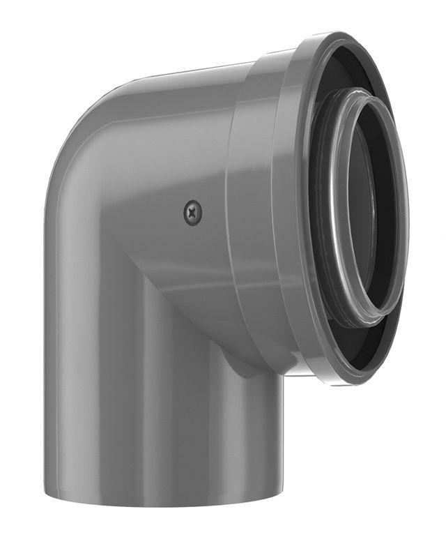 Bosch FC-CE60-87 Коаксіальний відвід, DN 60/100, 87°  (7738112616)  зображення 1