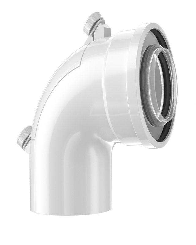 Bosch FC-CER60-87 Коаксіальний відвід з ревізійним отвором, DN 60/100, 87° (7738112637)  зображення 1