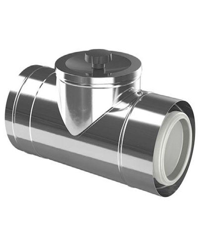 Bosch FC-CR80 Коаксіальний подовжувач з ревізійним отвором, DN 80/125, 250 мм (7738112666)  зображення 1