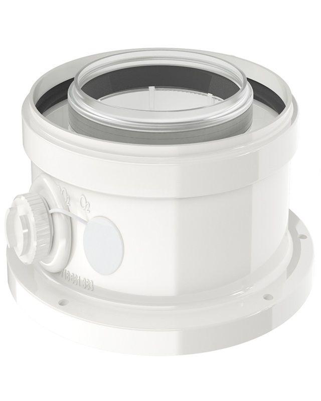 Bosch FC-CA80 Коаксиальный адаптер для подключения DN 80/125 (7738112714)  изображение 1