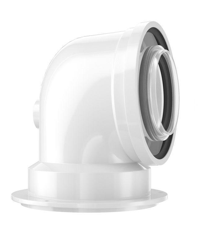 Bosch FC-CA80-87 Коаксиальный адаптер для подключения (с отводом), DN 80/125, 87 ° (7738112717)  изображение 1