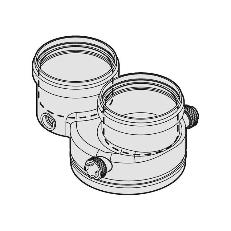 Bosch FC-CA80 Адаптер для подключения (для раздельных дымоходов), DN 80 (7738113223)  изображение 1
