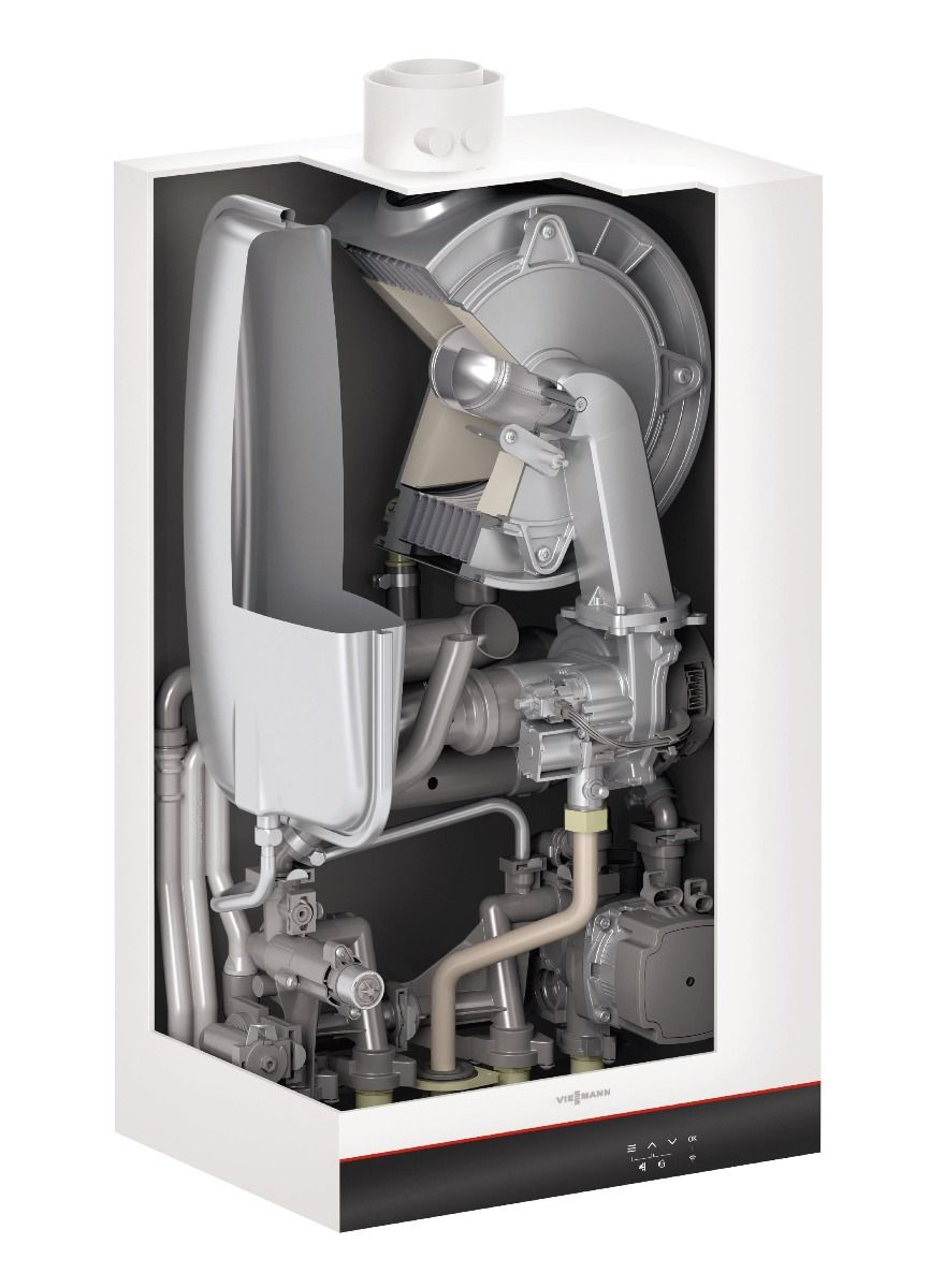 Газовый котел Viessmann Vitodens 050-W B0HA 25кВт (Z024399) с бойлером 150 л  изображение 2
